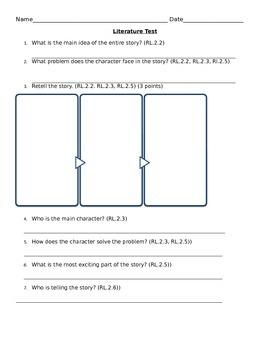 2nd Grade Literature Test