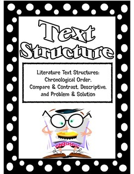 Literature Text Structures Graphic Organizers Pack