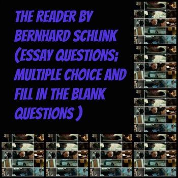 literature the reader by bernhard schlink essay writing and test