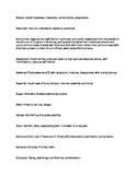 Literature: _The Scarlett Letter_ Vocabulary List