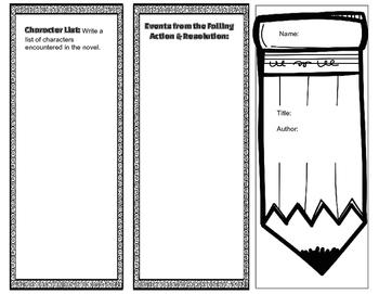 Literature Trifold #1-Parts of Plot