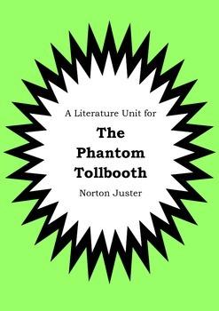 Literature Unit - THE PHANTOM TOLLBOOTH - Norton Juster -