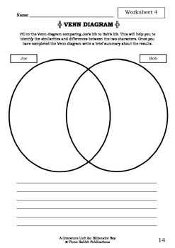 Literature Unit - BILLIONAIRE BOY - David Walliams - Novel Study - Worksheets
