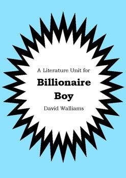 Literature Unit - BILLIONAIRE BOY - David Walliams - Novel