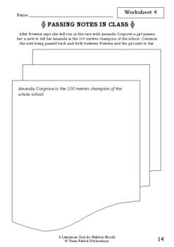 Literature Unit - BLABBER MOUTH - Morris Gleitzman - Novel Study - Worksheets