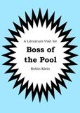 Literature Unit - BOSS OF THE POOL - Robin Klein - Novel S