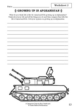 Literature Unit - BOY OVERBOARD - Morris Gleitzman - Novel Study - Worksheets