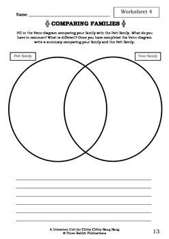Literature Unit - CHITTY CHITTY BANG BANG - Ian Fleming - Novel Study Worksheets