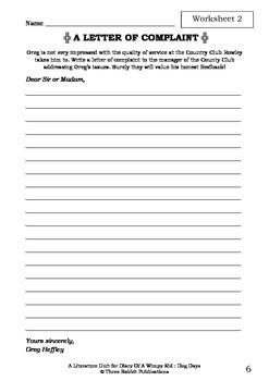 Literature Unit - DIARY OF A WIMPY KID : DOG DAYS - Jeff Kinney - Novel Study
