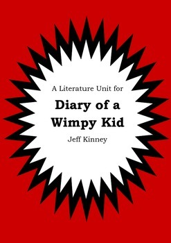Literature Unit - DIARY OF A WIMPY KID - Jeff Kinney - Novel Study - Worksheets