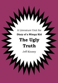 Literature Unit - DIARY OF A WIMPY KID : THE UGLY TRUTH Jeff Kinney Novel Study