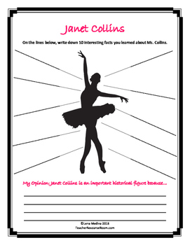 "Literature Unit: ""Dance Like Starlight"" by Kristy Dempsey"