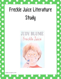 Literature Unit: Freckle Juice
