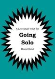Literature Unit - GOING SOLO - Roald Dahl - Novel Study -