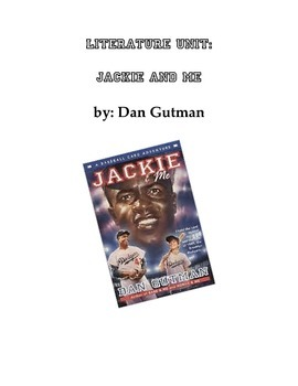 Literature Unit: Jackie and Me