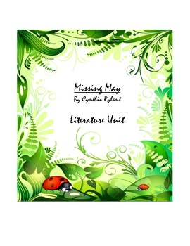 Literature Unit: Missing May by Cynthia Rylant