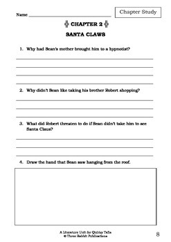Literature Unit - QUIRKY TAILS - Paul Jennings - Novel Study - Worksheets