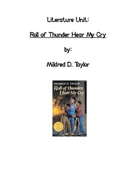 Literature Unit: Roll of Thunder Hear My Cry