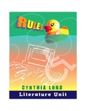 "Literature Unit: ""Rules"" by Cynthia Lord"