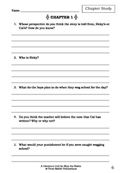 Literature Unit - SINK THE GIZMO - Paul Jennings - Novel Study - Worksheets