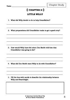 Literature Unit - STONE FOX - John Reynolds Gardiner - Novel Study Worksheets