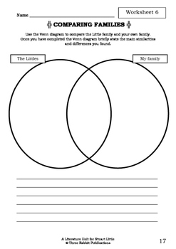 Literature Unit - STUART LITTLE - E. B. White - Novel Study - Worksheets