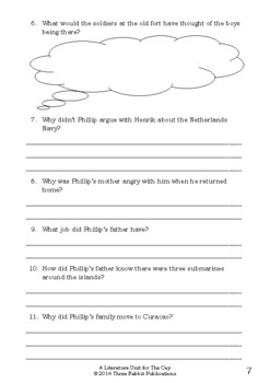 Literature Unit - THE CAY - Theodore Taylor - Novel Study - Worksheets