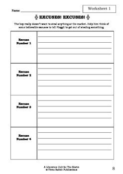 novel study worksheets