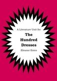 Literature Unit - THE HUNDRED DRESSES - Eleanor Estes - Novel Study Worksheets