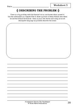 Literature Unit - THE TIMEKEEPER - Emily Rodda - Novel Study - Worksheets