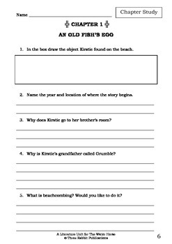 Literature Unit - THE WATER HORSE - Dick King-Smith - Novel Study - Worksheets