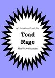 Literature Unit - TOAD RAGE - Morris Gleitzman - Novel Stu