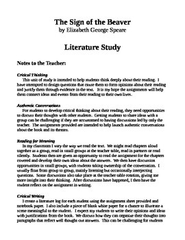 Literature Unit: The Sign of the Beaver