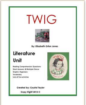 Literature Unit on the novel Twig by Elizabeth Orton Jones