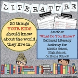 Literature - What Do You Know?