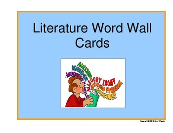 Literature Word Wall Cards