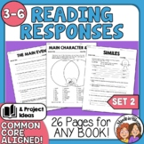 Reading Comprehension Response Sheets for Any Book! Set 2