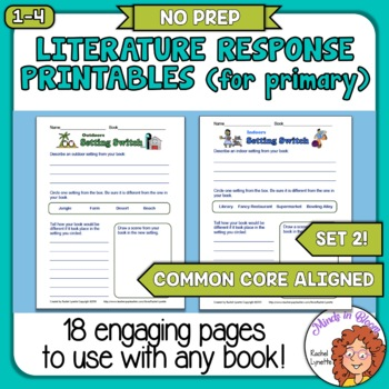 Reading Response Printables 2 (Primary): Ready to Use Pages for Any Book