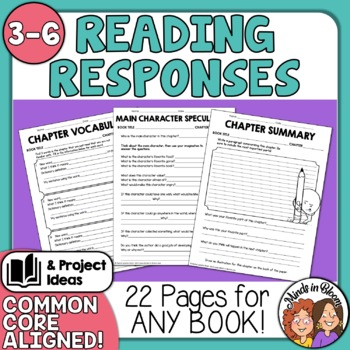 Reading Comprehension Graphic Organizers and Printables for Any Book!