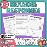 Reading Response Sheets and Graphic Organizers for Any Boo