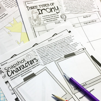 Literature Worksheets Analysis & Comprehension for Any Story, NO PREP