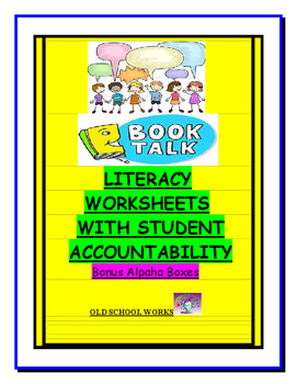 Literacy Worksheets with Accountability Bundle