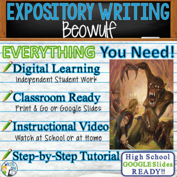 Beowulf -  Epic Poem - Text Dependent Analysis Expository Writing