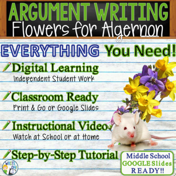 flowers for algernon short story teaching resources teachers pay   flowers for algernon by daniel keyes text dependent analysis argument writing