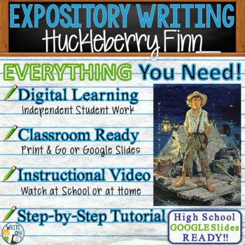 Huckleberry Finn by Mark Twain - Text Dependent Analysis Expository Writing
