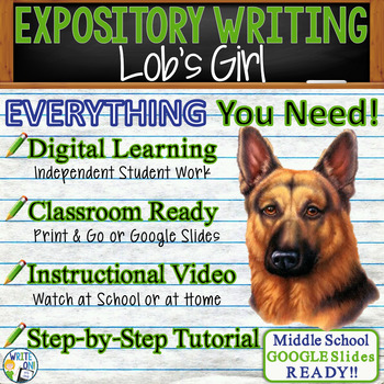 Lob's Girl by Joan Aiken - Text Dependent Analysis Expository Writing Prompt