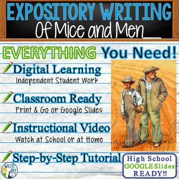 Of Mice and Men by John Steinbeck - Text Dependent Analysis Expository Writing