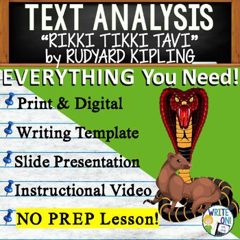 Rikki Tikki Tavi By Rudyard Kipling Text Dependent Analysis Argument Writing