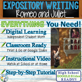 Romeo and Juliet by Shakespeare - Text Dependent Analysis Expository Writing