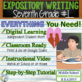 Seventh Grade #1   Citing Text Evidence Expository Essay   Print and Digital